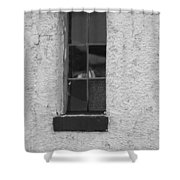 Drab In Black And White Shower Curtain