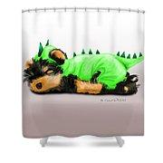 Dragon Baby Yorkie Shower Curtain