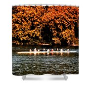 Dragon Boat On The Schuylkill Shower Curtain