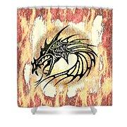 Dragon Fire Shower Curtain