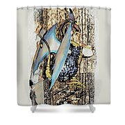 Dragon Reflexions And Repetition Shower Curtain