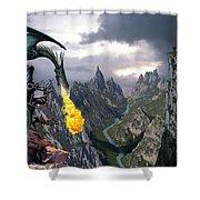Dragon Valley Shower Curtain