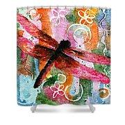 Dragonfly Fairy I Shower Curtain