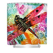 Dragonfly Fairy II Shower Curtain