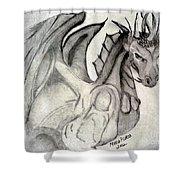 Dragonheart - Bw Shower Curtain