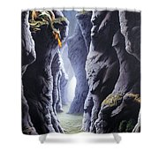 Dragons Pass Shower Curtain