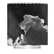 Dramatic Black And White Sunbeams And Storm Clouds Maine Fine Art Print Shower Curtain