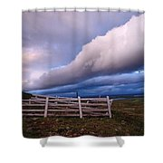 Dramatic Cloud Formations Shower Curtain