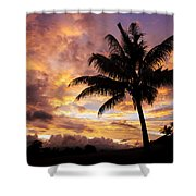 Dramatic Fiji Sunrise Shower Curtain