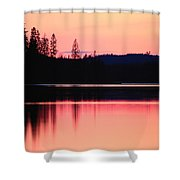 Dramatic Picture Of A Forest-edged Lake Shower Curtain