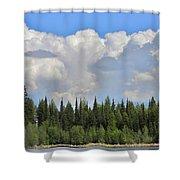 Dramatic Sky Marshall Lake Shower Curtain