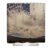 Dramatic Sky Over Mount Shasta Shower Curtain