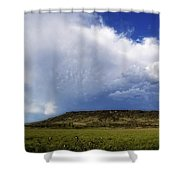 Dramatic Storm Over Table Rock Shower Curtain