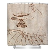 Drawings By Leonardo Divinci Shower Curtain