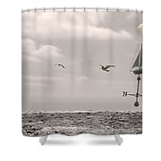 Dreamers Journey Bw Shower Curtain