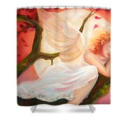 Dreams Of Strawberry Moon Shower Curtain