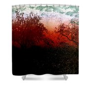 Dreamscape Sunset - Abstract Shower Curtain