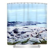 Dreamy Coastal Scene Shower Curtain