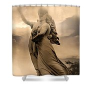 Dreamy Surreal Guardian Angels Ascent To Heaven Shower Curtain