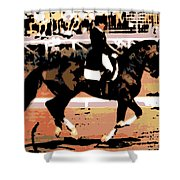 Dressage Competition Shower Curtain