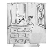 Dresser And Window Shower Curtain
