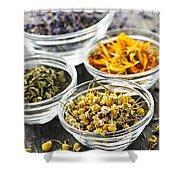 Dried Medicinal Herbs Shower Curtain by Elena Elisseeva