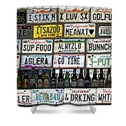 Drinking And Driving Shower Curtain