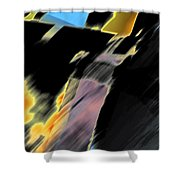 Drive By Abstract Shower Curtain