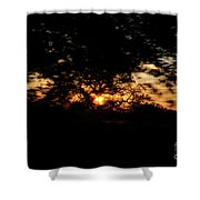 Drive By Sunset Shower Curtain