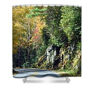 Drive In The Mountains Shower Curtain