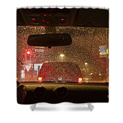 Driving A Car At Night Shower Curtain