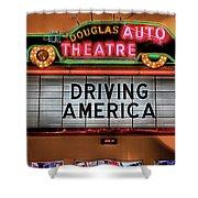 Driving America Douglas Auto Theatre Shower Curtain