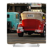 Driving Off Into History Shower Curtain