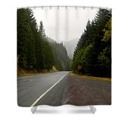Driving The Pass Shower Curtain