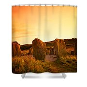 Drombeg Stone Circle, Near Glandore, Co Shower Curtain