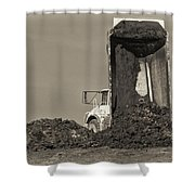 Drop Off Shower Curtain by Patrick M Lynch