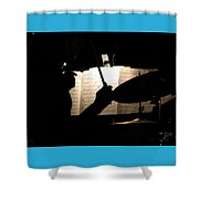 Drummer At A Gig Shower Curtain