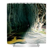 Drunken Night Drive Shower Curtain