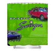 Dual Swingers Abstract Shower Curtain