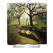 Dublin - Parks, St. Stephens Green Shower Curtain by The Irish Image Collection