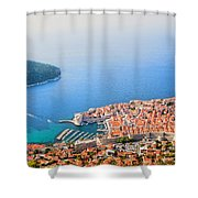 Dubrovnik Aerial View Shower Curtain