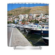 Dubrovnik Cityscape And Harbor Shower Curtain