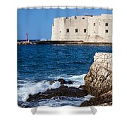 Dubrovnik Fortification And Bay Shower Curtain