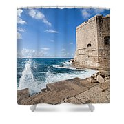 Dubrovnik Fortification And Pier Shower Curtain