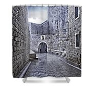 Dubrovnik In The Rain - Old City Shower Curtain