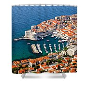 Dubrovnik Old City Aerial View Shower Curtain