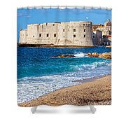 Dubrovnik Old Town In Croatia Shower Curtain