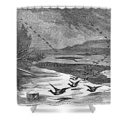 Duck Hunting, 1871 Shower Curtain