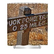 Duck Pond Trail Shower Curtain