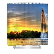 Duckling Dinner Time Shower Curtain